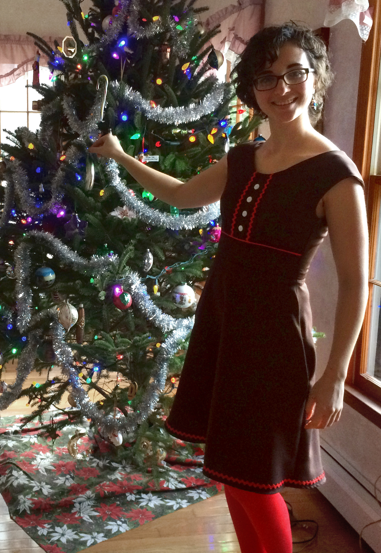 Finished project gingerbread house christmas dress kim